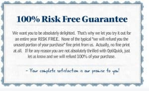 risk free optician guarantee