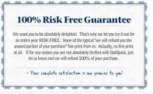 risk free optician guarantee