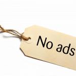 no ads photo for blog